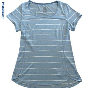 The North Face Mountain Athletics Flash Dry XD Shirt Blue/White Stripe Women's M