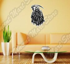 Reaper Death Hooded Skeleton Scythe Hell Wall Sticker Room Interior Decor 20X25""