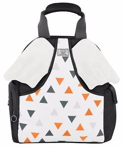 Premium Quality Designer Diaper Bag Backpack - Easily Connects to Strollers