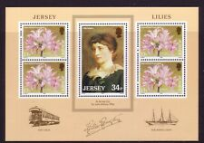 1986 Jersey. Lillies  MS382  MNH