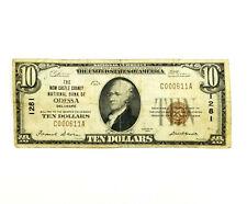 1929 US National Bank Note Odessa Delaware 1281 $10 Dollar Bill Type 1 Brown bt