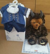 Build a bear beauty and the beast Bear with box and outfit