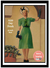 1930s Day Frock Sewing Pattern - Reproduction Pattern