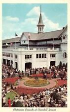 LOUISVILLE, KY Kentucky  CLUBHOUSE GROUNDS At CHURCHILL DOWNS  c1960's Postcard