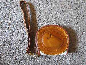 Vintage Dooney & Bourke All Weather Leather Big Duck Coin Purse White