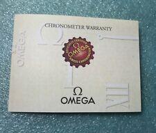 Omega Seamaster Professional Chonometer Diver 300M Warranty certifiate card COSC
