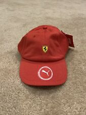 Red Puma Ferrari Fanwear Adjustable Baseball Cap Hat New