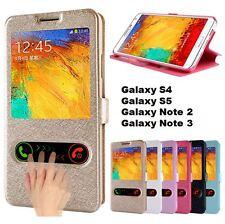 Samsung Galaxy S4 S5 Note 2 3 Flip Case Klapp Hülle Leder Tasche Schale Cover