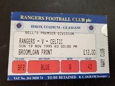 Sammler Used Ticket / Entrada Glasgow Rangers v Celtic Glasgow FC 19-11-1995