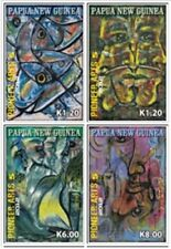 Papua New Guinea 2012 - Pioneer Art Set of 4 Stamps MNH