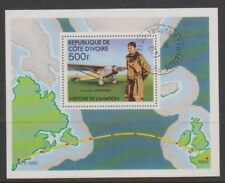 Ivory Coast - 1977 History of Flying, 500f Lindbergh sheet - F/U - SG MS502