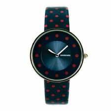 Lambretta Ladies Analogue Watch Blue Leather With Red Dots 2104DRE - New In Box