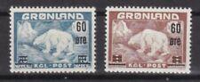 Grönland 1956 mit Falz MiNr. 37-38  Eisbär