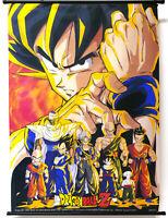 Vintage 90's Dragon Ball Z Bird Studio Shueisha Fabric Hanging Wall Scroll