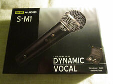 Shs Audio S-M1 Low Impedance Dynamic Vocal Mic w Switch, Cable & Hardshell Case