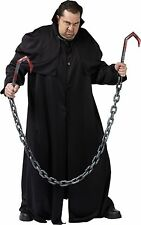 Meat Hook Costume Weapon w/Chain Reaper Zombie Butcher Bloody Knife Hooks Chains