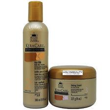 Keracare Hair Milk Daily Hair Sustainer 8 Fl. Oz. + Defining Custard 8 Oz.