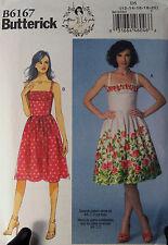 Womens Plus Dress Pattern Butterick 6167 Retro Rocakabilly Casual 12 14 16 18 20
