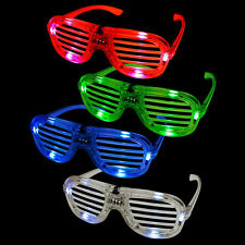 Shutter louver LED Flashing Light Up Glasses Slotted Shutter Shades Hot LA