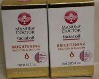 (2) Manuka Doctor Facial Oil Brightening & Smooth With Manuka Oil 0.85 fl oz