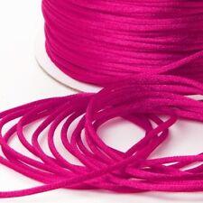 PINK 100 Metres Satin Cord 2mm Rattail Kumihimo Macrame Craft Beading  Ribbon