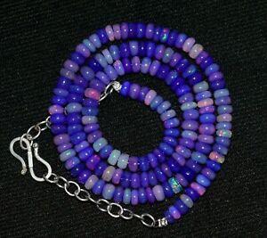 53 Crt Natürliche Äthiopische Halskette aus Welo Feueropal Edelstein -AAA-