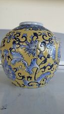 "ANTIQUE Chinese FAMILLE Juan ENAMELS 5"" Planter Vase - URN - JAR - Pot"
