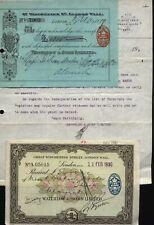 1919 & 1930 Waterlow & Sons Letter, Receipts
