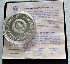 More details for yugoslavia 5000 dinar 1985 50 years liberation from fascism  rare