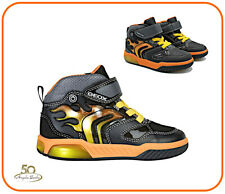 Geox Shoes with Led Lights from Child Bright Sneakers for Boy Kids Inek J