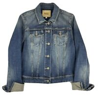 Paige Womens Denim Jean Jacket Women's Size L Large Blue Wash Button Up