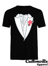 Tuxedo Unisex T-shirt Funny Tux flower formal classy shirt prom suit costume tie