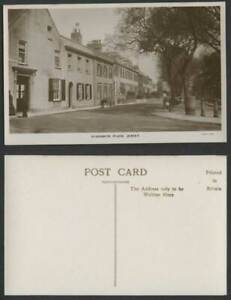 Jersey Old Real Photo Postcard Elizabeth Place Street Scene Bicycle Cart F. Foot