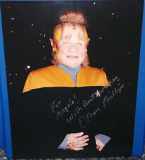 STAR TREK VOYAGER : AUTOGRAPHED PHOTO BY ETHAN PHILLIPS AKA NELIX.  (CCB)