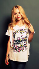 Skull in Flower Loose Top Womens