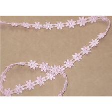 "Venise Lace Daisy 1/2"" (13mm) Light Pink 5 Yards"
