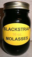 Organic BLACKSTRAP MOLASSES Pancake & Waffle Syrup, 16 oz. Bottle, All Natural