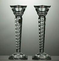 PAIR OF BLEIKRISTALL CRYSTAL CUT GLASS CANDLE HOLDERS, CANDLESTICKS TEALIGHT
