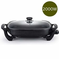 Soga Non Stick Electric Fry Pan with Glass Lid Family Size