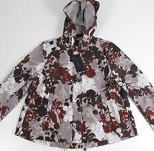 Zara Basic Woman's Jacket Size S Water Repellant Floral Hood Raincoat