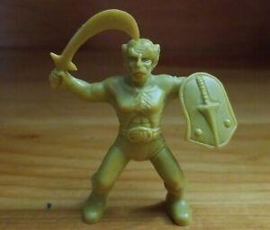RARE Vintage Galaxy Warriors Worriors Gold Barbarian Plastic Fantasy Mini Figure