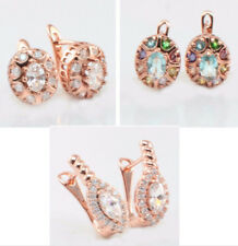 Alloy Cubic Zirconia Rose Gold Filled Fashion Earrings