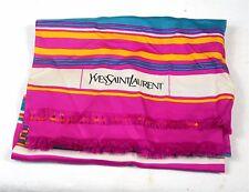 Etole écharpe foulard en soie imprimé YVES SAINT LAURENT. Printed silk scarf. BE