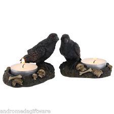 Pair of Raven Tea light holders !FREE UK P&P!