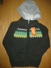 NWT Gymboree Ice All Star Size 4 Gray Hooded Cardigan Sweater