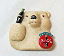 1995 The Coca-Cola Co Collectible Magnet Polar Bear with bottle pre owned