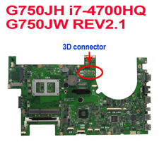 For ASUS G750JH Motherboard i7 4700HQ CPU G750JW REV2.1 3D Connector Mainboard