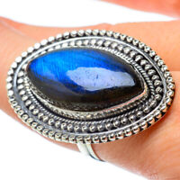 Gigantic Labradorite 925 Sterling Silver Ring Size 8 Ana Co Jewelry R33647F