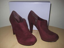 Marc Fisher Shoes Size 8 M Womens New ABetter2 Dark Red Ankle Boots Booties
