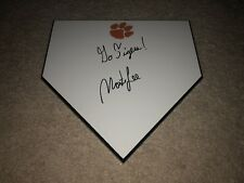 Monte Lee Hand Signed Autographed Clemson Tigers Logo Baseball Home Plate Coa
